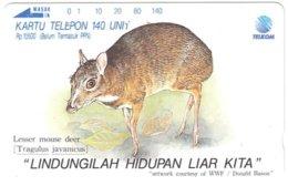 INDONESIA A-719 Magnetic Telkom - Painting, Animal - Used - Indonesië