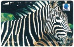 INDONESIA A-720 Magnetic Telkom - Animal, Zebra - Used - Indonesië