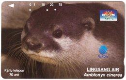 INDONESIA A-725 Magnetic Telkom - Animal, Sea Otter - Used - Indonesië