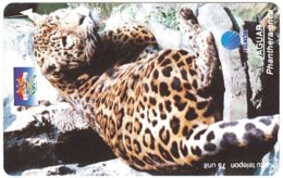 INDONESIA A-728 Magnetic Telkom - Animal, Cat, Leopard - Used - Indonesië