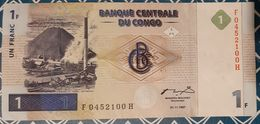 Congo (D.R.) - 1 Franc - 1/11/1997 - XF+ - RARE - Congo
