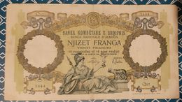 Albanie - 20 Franga - N.D. (1939) - VF+ - Albanie