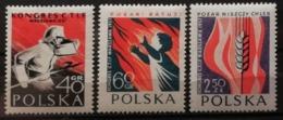Pologne 1957 / Yvert N°909-911 / ** - 1944-.... Republic