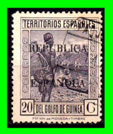 COLONIAS ESPAÑOLAS Y DEPENDENCIAS ( GUINEA TERRITORIOS ESPAÑOLES ) SELLO AÑO 1932 REPUBLICA ESPAÑOLA VALOR 20 CENTIMOS - Guinea Española