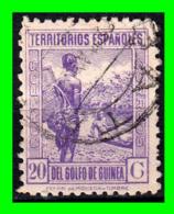 COLONIAS ESPAÑOLAS Y DEPENDENCIAS ( GUINEA TERRITORIOS ESPAÑOLES ) SELLO AÑO 1932 VALOR 20 CENTIMOS - Guinea Española