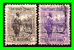 COLONIAS ESPAÑOLAS Y DEPENDENCIAS ( GUINEA TERRITORIOS ESPAÑOLES ) 2 SELLOS AÑO 1932  VALOR 5 Y 20 CENTIMOS DE PESETA - Guinea Española