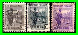 COLONIAS ESPAÑOLAS Y DEPENDENCIAS (GUINEA TERRITORIOS ESPAÑOLES) 2 SELLOS AÑO 1932 VALOR 5 - 15 Y 20 CENTIMOS DE PESETA - Guinea Española