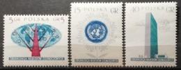 Pologne 1957 / Yvert N°885-887 / ** - 1944-.... Republic