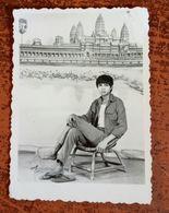 MONTAGE PHOTO SNAPSHOT CAMBODGE TEMPE ANGKOR-VAT ETHNIC SAIGON SURREALISME PHOTOMONTAGE SURRELISM - Camboya