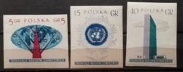Pologne 1957 / Yvert N°885-887 Non Dentelés / ** - 1944-.... Republic