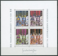 Österreich 2000 Friedensreich Hundertwasser Block 15 Postfrisch (C16484) - Blocks & Kleinbögen