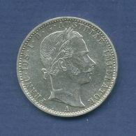 Haus Habsburg 1/4 Florin 1859, Franz Joseph I., KM 2214 Ss+ (m2555) - Austria
