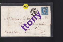 1  Timbre 20 C : Sur Une Lettre Courrier  Papier Entête  Ets: Veuve Du Queylar   Marseille  26 Mai 1862 - 1849-1876: Classic Period