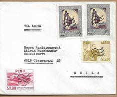 PERU Cover Sent To Oberaegeri 3 Stamps COVER USED - Perú