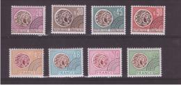 FRANCE - PRE-OBLITÉRÉS - Série Complète De 8 Timbres Type Monnaie Gauloise - Période 1975 - Neuf X - Precancels