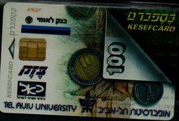 ISRAEL  1996 BEZEQ PFONECARD KESEFCARD MINT VF!! - Israel