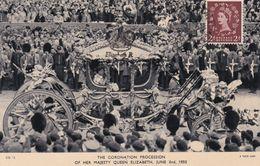 Carte Maximum Royaume Uni England  Yt 265   Coronation Procession  Queen Elisabeth    1953  Maximum Card - Carte Massime