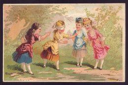 Cartão Publicidade LOJA MODAS - Rua Aurea 269 LISBOA Portugal. Old Victorian Trade Card CHROMO VTC Hide And Seek 1880s - Cromo