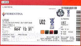 C0918 - Collectible FOOTBALL TICKET Stub - UEFA Cup 2007: FIORENTINA  Vs IF Elfsborg - Voetbal