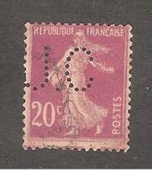 Perfin/perforé/lochung France No 190 J.C Filatures J. Cau - Perforés