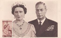 Carte Maximum TURKS CAICOS ISLANDS   Yt 134     Queen Elisabeth  And King  1948 Maximum Card - Turks And Caicos