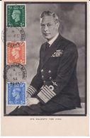 Carte Maximum Grande Bretagne England    Yt  209/251/252     King  1952 Maximum Card - Carte Massime