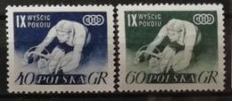 Pologne 1956 / Yvert N°855-856 / ** - 1944-.... Republic