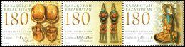 1029 - Kazakhstan - 2009 - Golden Adornments Korea Mongolia - 3v Se-ten - MNH - Lemberg-Zp - Kazakhstan
