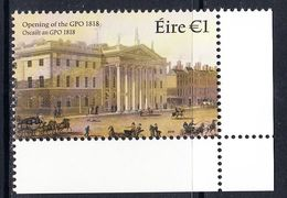 2017 Ireland GPO Architecture Complete Set Of 1 MNH @ BELOW FACE VALUE - 1949-... Republiek Ierland