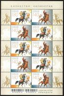 1034 - Kazakhstan - 2009 - National Games Horses - Sheetlet Of 10v - MNH - Lemberg-Zp - Kazakhstan