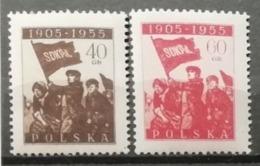 Pologne 1955 / Yvert N°837-838 / ** - 1944-.... Republic