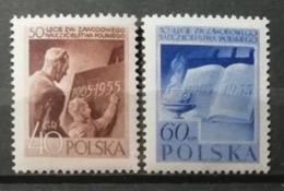 Pologne 1955 / Yvert N°843-844 / ** - 1944-.... Republic