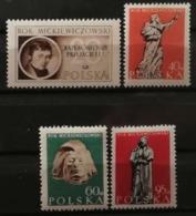 Pologne 1955 / Yvert N°839-842 / ** - 1944-.... Republic