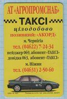 UKRAINE / Chernihiv Region / Phonecard Ukrtelecom / Phone Card / Advertising Taxi Car. Transport. 05/01 - Oekraïne