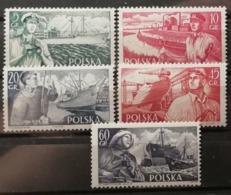 Pologne 1956 / Yvert N°847-851 / ** - 1944-.... Republic
