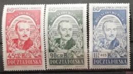 Pologne 1952 / Yvert N°641-643 / ** - 1944-.... Republic