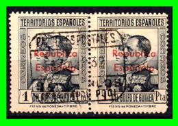 COLONIAS ESPAÑOLAS Y DEPENDENCIAS ( GUINEA TERRITORIOS ESPAÑOLES )  SELLOS AÑO 1931 REPUBLICA ESPAÑOLA VALOR 1 PESETA - Guinea Española
