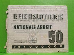 Reichslotterie, Nationale Arbeit - 1939-45