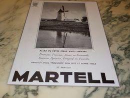 ANCIENNE PUBLICITE VOTRE COEUR VOUS CONDUIRA  COGNAC  MARTELL - Alcools