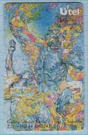 UKRAINE / Phone Card / Phonecard / Utel / Schlumberger Drawing Atelier Karas Gallery World Map. Sculpture. 1999 - Oekraïne