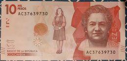 Colombia - 10'000 Pesos - 2/8/2016 - UNC - Nueva Familia / Snake / Serpent - Colombia