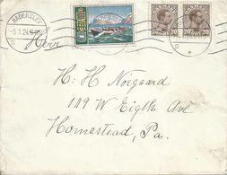 Ausland Brief  Haderslev - Homestead USA         1924 - 1913-47 (Christian X)