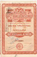 Titre Ancien - Compagnie Minière Franco-Tunisienne - Société Anonyme - Titre De 1907 - - Afrique