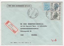 POST 8  B 4090 B - Op Aangetekende Brief - Postmark Collection