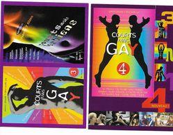 """CPM LOT De 2 Cartes Publicitaires """" Courts Mais GAY """" Festival De Cinéma Courts Métrage Gay Et Lesbien - Cinema"""