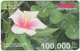 LAOS A-119 Prepaid P-Phone - Plant, Flower - Used - Laos