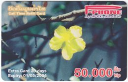 LAOS A-133 Prepaid P-Phone - Plant, Flower - Used - Laos