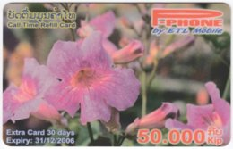 LAOS A-134 Prepaid P-Phone - Plant, Flower - Used - Laos