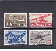 Suisse - P.A. - Neuf** - Année 1944 - N°YT 36/39** - 25è Anniversaire De La Poste Aérienne Nationale - Airmail