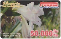 LAOS A-136 Prepaid P-Phone - Plant, Flower - Used - Laos